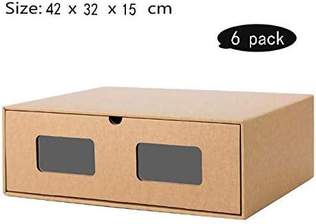 LHY SAVE Cajas De Zapatos 6 PCS De Caja Zapatos Transparente ...