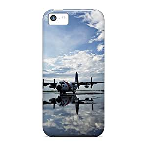 Awesome Planes On The Runway Flip Case With Fashion Design For Iphone 5c
