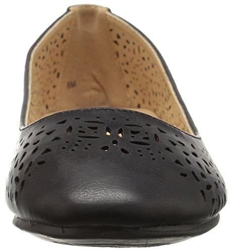 Femme Annie Black Flat Esteppe Shoes X70qF