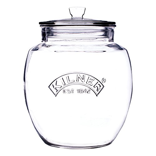 Kilner Glassware Universal Storage Jar, Durable Multi-Purpose Glass Container with Airtight Push-top Lid, 135-Fluid Ounces ()