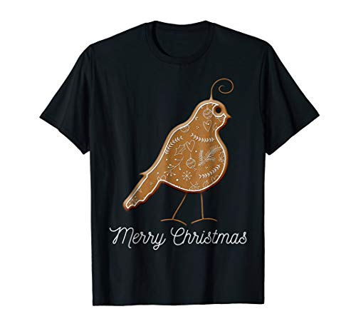 Gingerbread Costume QUAIL Merry Christmas