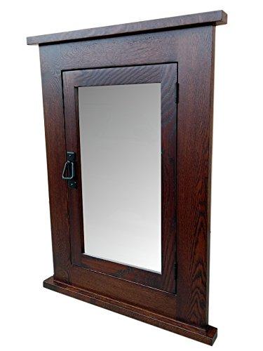 Du0026E Wood Craft Cabinets Solid OAk Dark Mission Recessed Medicine Cabinet/Solid  Wood U0026 Handmade