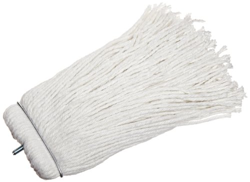 Impact 40116 Valumax Screw-Type Regular Cut-End Rayon Wet Mop Head, 16 oz, White (Case of 12) by Impact Products