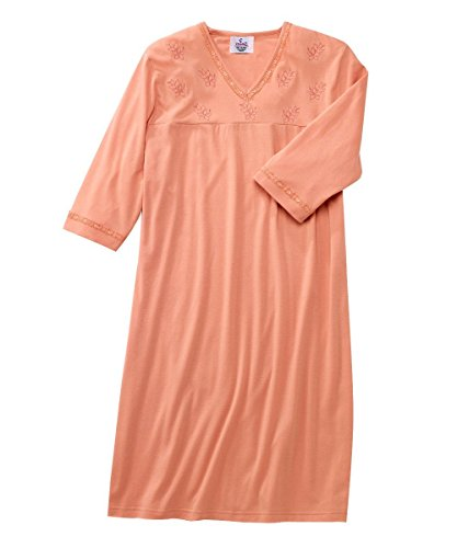 Adaptive Clothing - Silvert's Womens Adaptive Hospital Gown - Attractive Patient Gowns - Coral MED