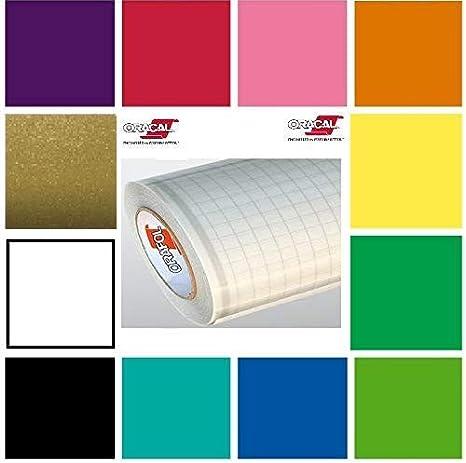 2 Rolls ORACAL 651 Multi-Color Vinyl Starter Kit 12 x 5ft Roll Bundle
