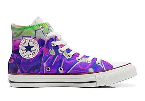 zapatos Artesano con Star personalizadas All Producto Converse nebuloso púrpura pintada la wRSXEUqxc