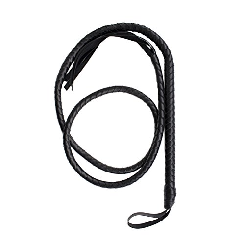 LUOEM Cat Woman Whip Costumes Whip Cosplay Supplies for Halloween (Black) -