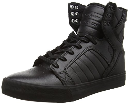 Red Adulte Hautes black Noir Mixte Skytop Supra Sneakers Black ZfWBP8U