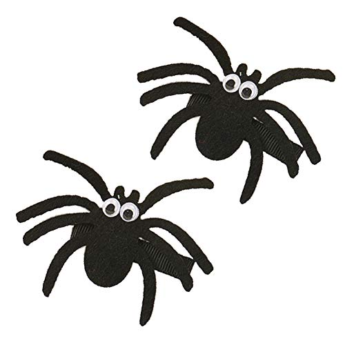 Halloween Spider Hair Clips Hairpin Hair Accessories for Baby Kids 2 Pack TSFJ01 (2pcs Black) ()