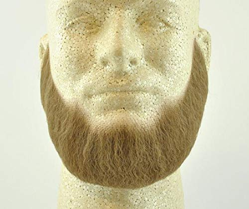 Full Character Beard LIGHT BROWN - 100% Human Hair - no. 2024 - REALISTIC! Perfect for Theater and Stage - Reusable!]()