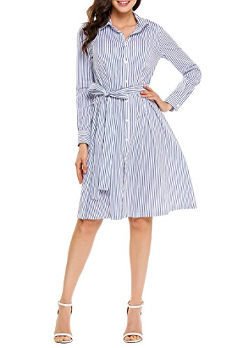 Full Skirt Shirt Dress - 5