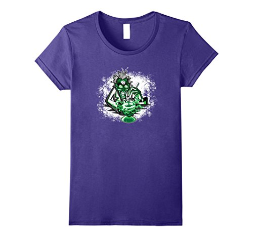 Female Scientist Costume (Womens Mad Scientist Scary Halloween Costume T Shirt Medium Purple)