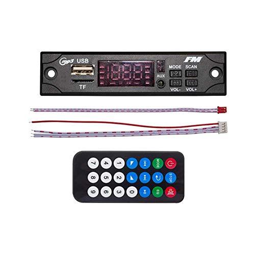(zzpopGG DC 5V Automobile Car Bluetooth MP3 WMA FM AUX Decoder Board Plate Audio Module - Black)