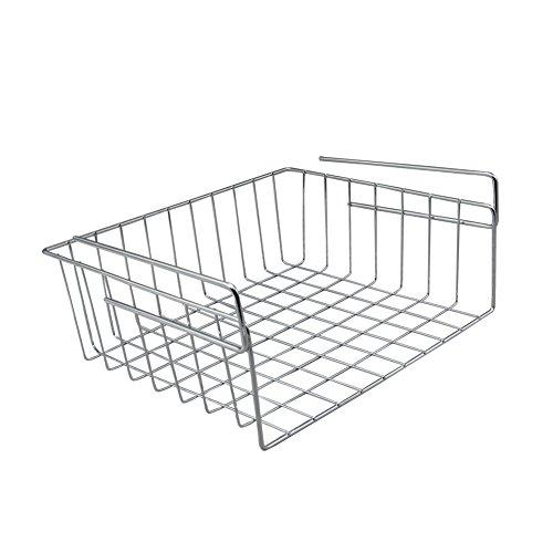 SHENGXIA Small Kitchen Under Shelf Storage Basket Wire Rack Silver by SHENGXIA