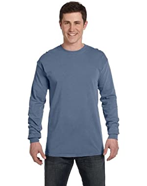 Ringspun Garment-Dyed Long-Sleeve T-Shirt (C6014)- BLUE JEAN, L