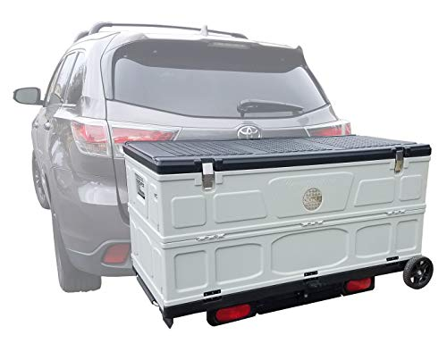 Cove Products The Cargo Box Hitch Mounted Folding Cargo Box Storage ()