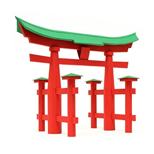 PaperLandmarks Torii Gate Paper Model Kit