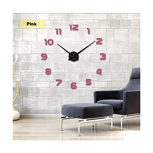 yuan kun New Modern 3D DIY Wall Clock Acrylic Evr Metal Large Mirror Home Decoration Super Big Sticker