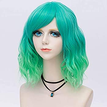 Probeauty Sweety Collection Lolita 40CM Short Curly Women Lolita Anime Cosplay Wig Wig Cap /… Aqua Blue