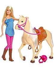 Barbie Bambola con Cavallo e Accessori, FXH13