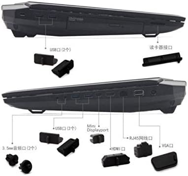 Special Waterproof Dustproof Black Silicone Plug Port Cover Guard for Lenovo thinkpad T470P T560