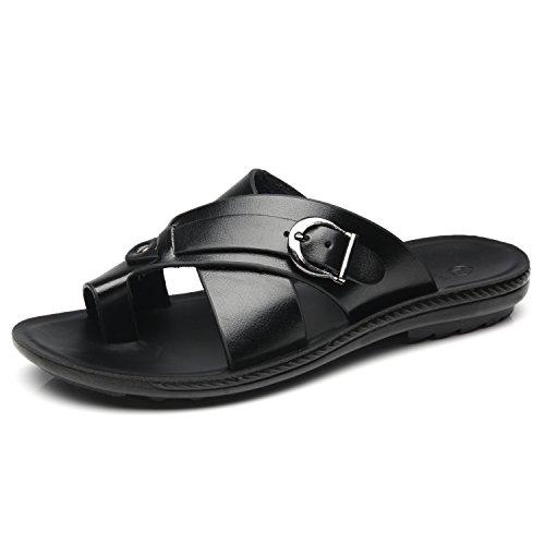 Faranzi Mens Toe Ring Slide Sandal Open Toe Slip-On Slider Fashion Casual Comfortable Flip Flop Sandal Men by Faranzi