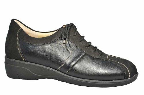 Finn Comfort Women's Ostende Walking Shoes,Black Nubuck/Stretch/Nappa,5.5 M UK by Finn Comfort