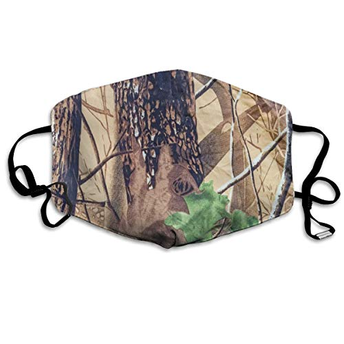 Dust Mask Military Texture Camouflage Tree Fashion Anti-dust Reusable Cotton Comfy Breathable Safety Mouth Masks Half Face Mask for Women Man Running Cycling Outdoor