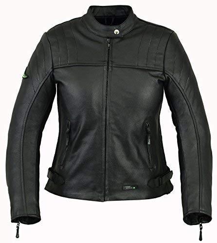 RIDEX Femmes//Femmes Lj6/Motard Moto Veste en Cuir