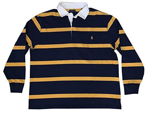 Sleeve Rugby Striped Short - Polo Ralph Lauren Men's Big Tall Long Sleeve Rugby Short Sleeve Polo Shirt (Navy, 2XB)
