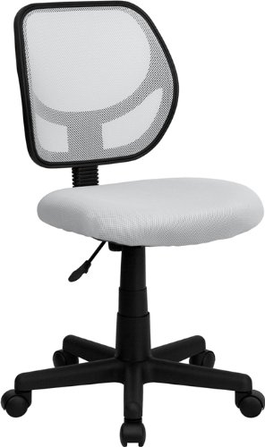 Flash Furniture Mid-Back White Mesh Swivel Task Chair