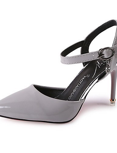 ShangYi Women's Shoes Leatherette Stiletto Heel Heels / Pointed Toe Heels Wedding / Office & Career / CasualBlack / White champagne 4n0do1v6Lo