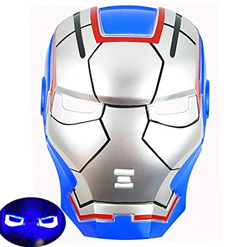 RAMZS Led Glowing Super Hero Mask The Man Man Party Cosplay Halloween Mask Toy Drop -Multicolor Complete Series Merchandise -