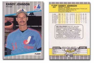 Amazoncom 1989 Fleer Randy Johnson Rookie Baseball Card