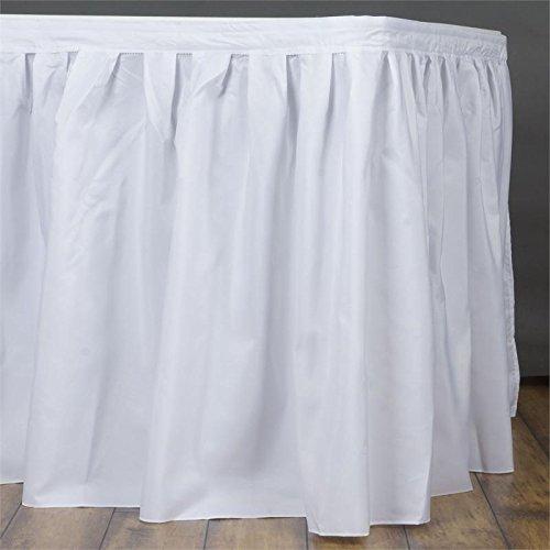 URBY 17 feet Polyester Table Skirt (Pleats Poplin Skirt)