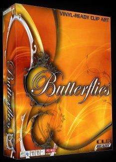 Butterfly Clipart - Butterfly EPS Vector Sign Clipart Butterflies