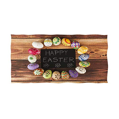 bath towel custom colorful easter eggs 20 -