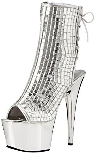 Pleaser Women's Ado1018dbm/s/Sch Ankle Bootie Slv Mirrors/Slv Chrome iZAtAtuqgE