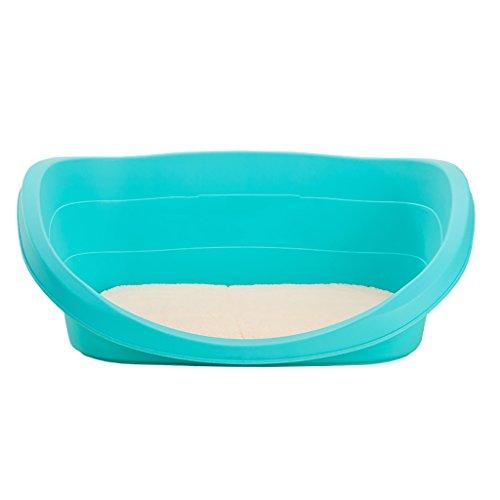 JH& Pet Kennel Cat Nest Desmontable y Lavable Cuatro Estaciones ApplySmall Perro Cama Mat Dog Sala, Azul, 60 * 40 * 21cm ++