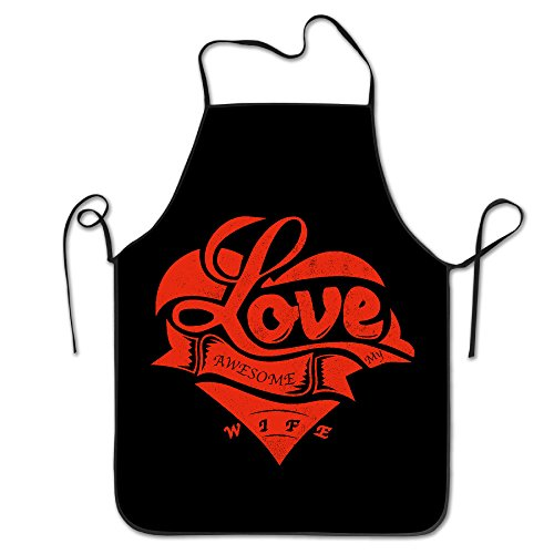 Apron Chef Kitchen Cooking Apron Bib I Love My Awesome Wife Cute FRICSTAR