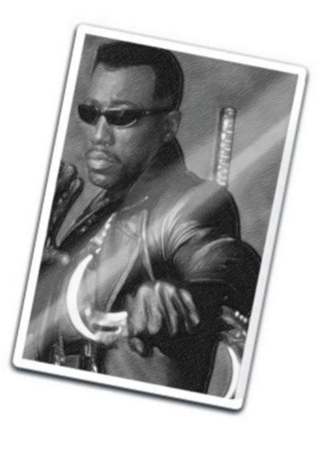 WESLEY SNIPES - Original Art Fridge Magnet #js001