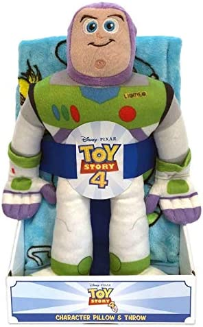 Toy Story 4 Woody Pillow and Travel Blanket Set  New NWT  Nogginz Buzz Lightyear