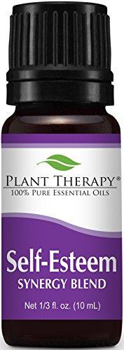 Mélange d'huiles essentielles synergie estime de soi. 10 ml. 100 % pur, non dilué, thérapeutiques Grade. (Mélange de: épinette, bois de rose, Tanaisie bleue & encens)