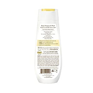 Babo Botanicals Moisturizing Baby Shampoo and Wash Oatmilk Calendula, 8 Ounce - Best Baby Shampoo Soothes Baby's Sensitive Skin; Natural Oat; Sensitive Skin; Dry Skin; Cradle Cap; Eczema