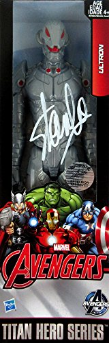 Stan Lee Autographed/Signed In-Box Ultron Avengers Assemble Series Marvel Action Figure Box