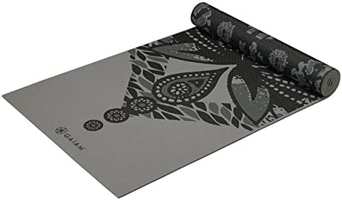 Gaiam Yoga Mat Premium Print Reversible Extra Thick