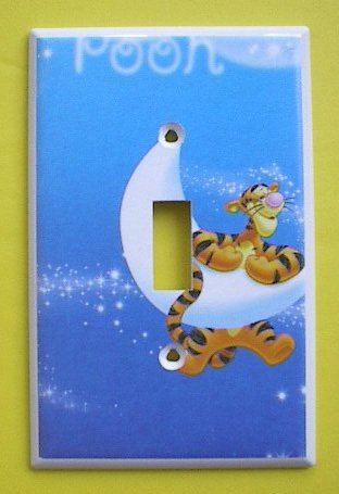 Pooh Switchplate (Winnie the Pooh TIGGER Single Switch Plate switchplate)