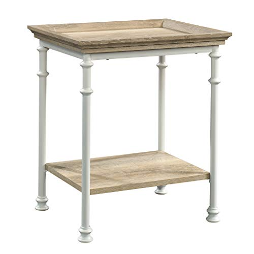 Sauder 423258 Canal Street Side Table, White &