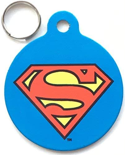 Emblems-Gifts - Placa identificativa para Perros y Gatos (31 mm), diseño de Superman: Amazon.es: Productos para mascotas