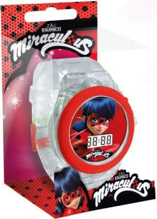 Amazon.com: Miraculous Ladybug Adventures Light LED Wrist Digital Watch Reloj JAV: Cell Phones & Accessories